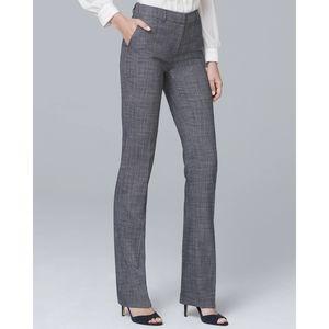 WHBM Textured Suiting Slim Flare Pants Slacks 10